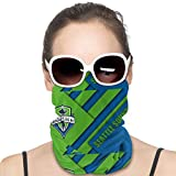 UV Resistant Tube Mask Scarf Bandana, Seamless Dust Proof Balaclava for Camping Sport, Unisex Teens Seattle Sounders Material Design Abstract Rave Headbands