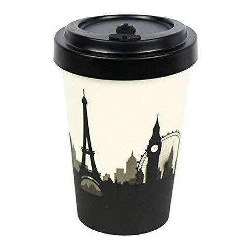 WoodWay Cosmopolitan - Taza de café de fibra de bambú
