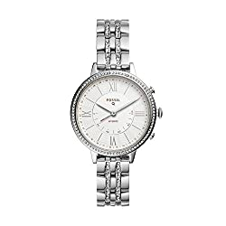 small Stainless Steel Fossil Jacqueline Ladies Hybrid Smartwatch-Silver (Model: FTW5033)