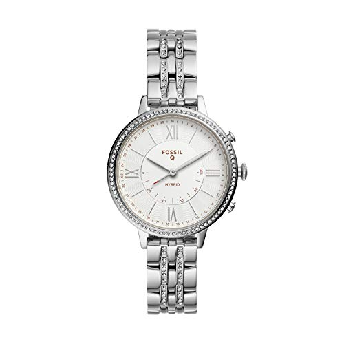 Fossil Women's Jacqueline Stainless Steel Hybrid Smartwatch, Color: Silver (Model: FTW5033) 1