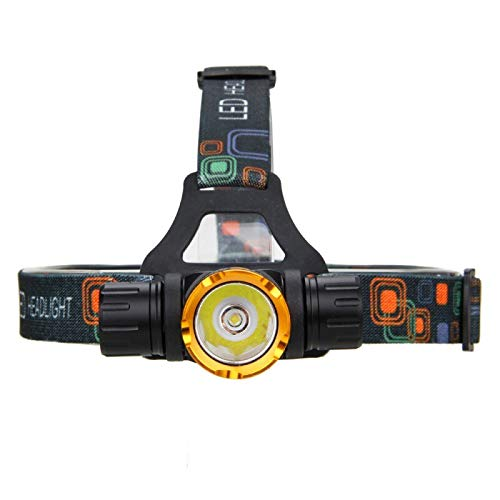 whbage LED Lampe Frontale 5000 Lumens Diving Headlight T6 LED Flashlight Forehead Waterproof Torch Underwater Head Lamp Lamp