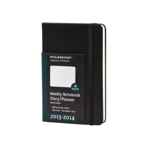 Moleskine Wochen-Notizkalender 18 Monate 2013-2014 / Pocket / Fester Einband / Schwarz (Moleskine Diaries)