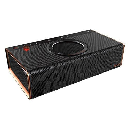 Creative iROAR Lautsprecher (Intelligentes 5-Treiber-Soundsystem mit 2 Verstärkern, integriertem Subwoofer, zwei Mikrofonen, Mic-Beam-Technologie) schwarz