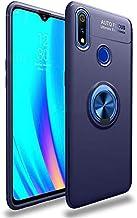 ريلمى 3 برو - جراب اتوفوكس مضاد للخدوش وحلقة معدينه متعددة الوظائف - ازرق