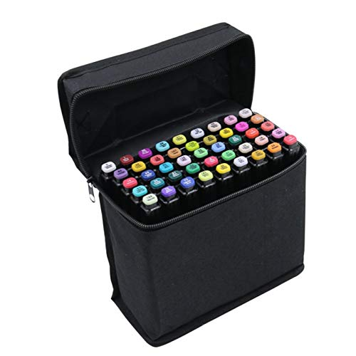 Art T6 Alcohol Markers Set of 40 Colors Dual Tip Marker Pens Art Markers Brush Tip Sketch Marker Broad Fine Point Pens With Free Pen Case(Student)