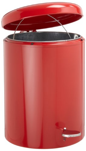WITT 2240RD Step On Metal Biohazard Waste Container, 4gal Capacity, 11-1/2