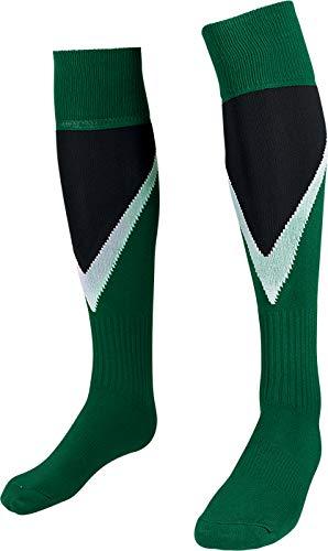 HS M11 Power, Calzettoni Calcio Unisex – Adulto, Bianco/Blu Navy/Verde, 2