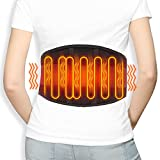 Extra Large Heating Pad Back Massager for Lower Back Pain, Portable Heat Therapy Massager Heated Back Brace, Heated Waist Belt Back Brace Wrap for Back Pain and Cramps Relief Lumbar (Large/X-Large)