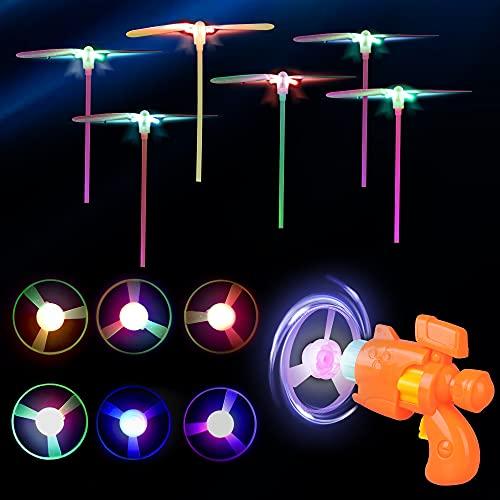 Herefun Helicoptero Vuelo Juguete, 13 Piezas Favores de Fiesta para Niños, Volador Luminoso Juguete con Luz LED, Niños Brillo en la Oscuridad Regalos, Helicóptero Juguete Luminoso