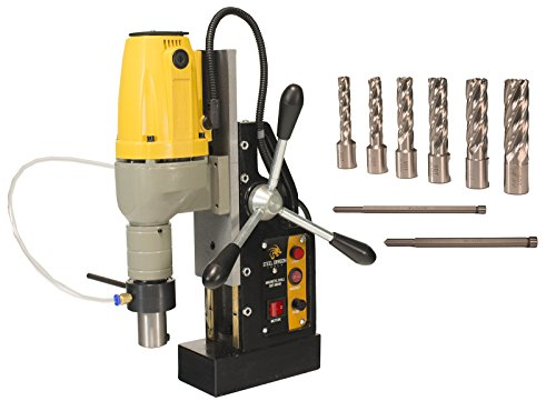 Steel Dragon Tools MD40 Magnetic Drill Press with 7pc 2in. Small HSS Cutter Kit