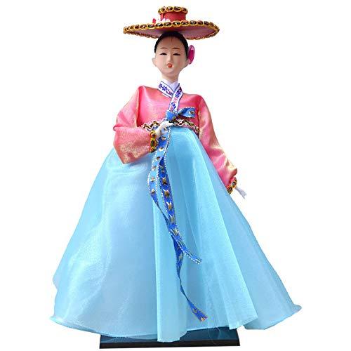 Uziqueif Geisha de 12 Pulgadas Dolls,Hanbok Muecas de decoracin de Arte de la coleccin del hogar de Maiko Pueden ser usadas como muecas de Regalo de cumpleaos Muecas de Boda,M