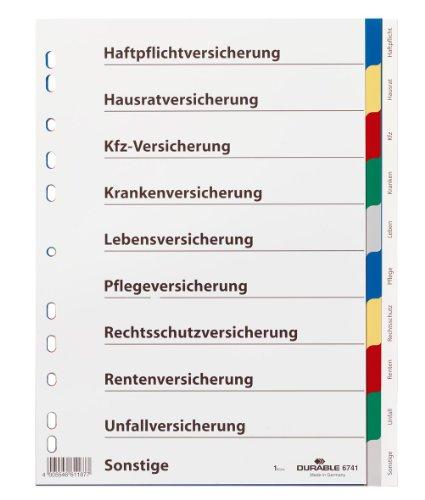 Durable 674127 Blanko-Register (aus PP, 10-teilig, Universallochung, farbiger Verlauf) 25 Stück grau