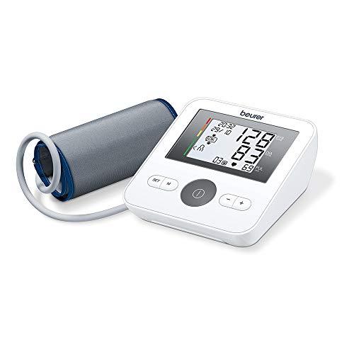 Beurer BM 27 Misuratore di Pressione da Braccio con Display Orizzontale, Funzione di Memoria e Rilevazione Aritmie