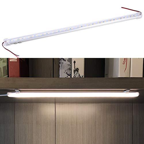 Pixnor–2pieza 56500,5m DC 12V Aluminio Fijo Led Strip de bar Light (Blanco Cálido)
