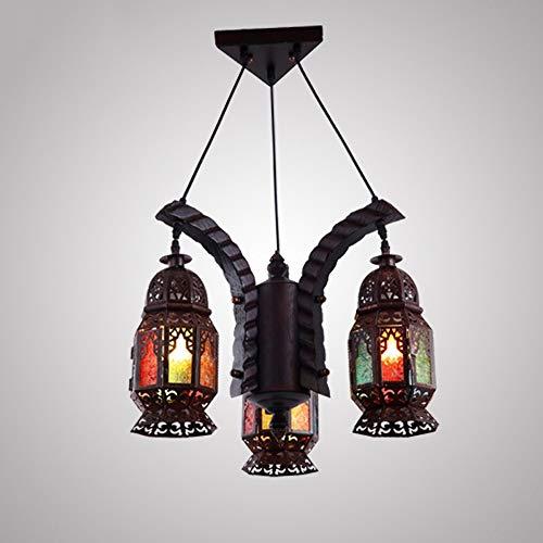 PHLPS Europeo del Mediterráneo Estilo retro de la lámpara marroquí Techo de madera maciza de luz for el comedor, dormitorio, pasillo luz de techo