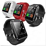 U8 Bluetooth Smart Watch Touchscreen Music Play Anti-Lost Wristwatch Detachable Waterproof Bracelet Sport Wristband (White, OneSize)