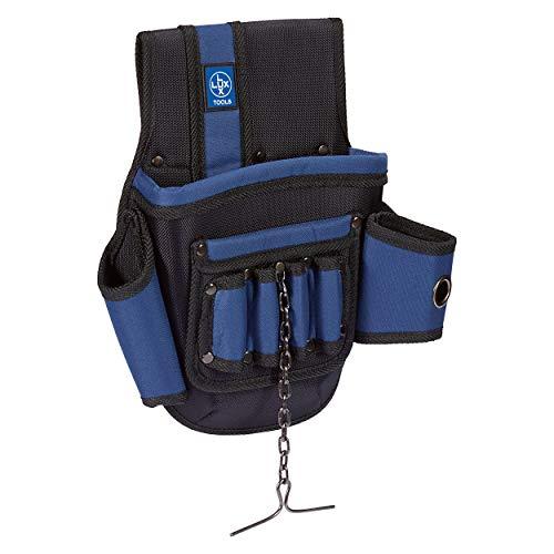 LUX-TOOLS Comfort Werkzeugtasche aus Nylon | Für den Transport und das Verstauen von Werkzeugen geeignet | Verfügt über zwei Fächer und mehrere Schlaufen | Gefertigt aus Nylon