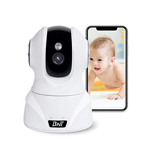 Security Camera WiFi IP Camera, BNT HD 1080P Home Wireless Baby/Pet Camera with Cloud Storage Two-Way Audio Motion Detection Night Vision Remote Monitoring, Work With Alexa Monitors
