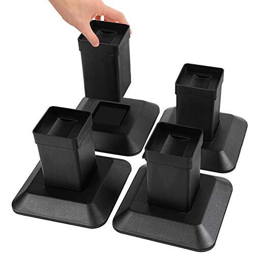 Uping Elevador Muebles Alza Mueble Elevadores Camas Mesas, Aumente Altura en 13cm (Negro)
