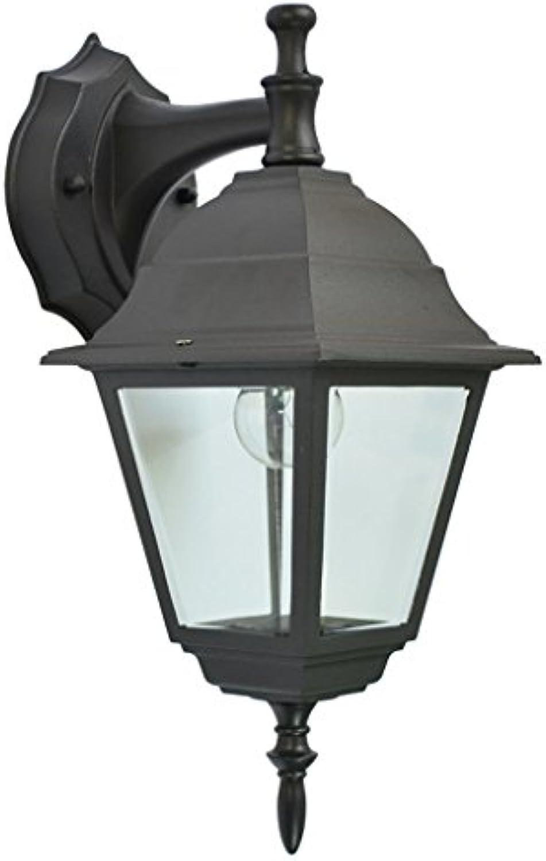WJS Wetter-Wand-Lampe der im Freien Retro- Wand-Laternen-Sicherheits-Licht-Garten-IP23 (Farbe   schwarz, Größe   A)