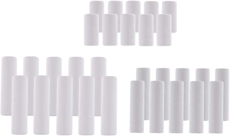 chiwanji 30pcs Blank White Styrofoam Cylinder Ornaments Bombing new work for Draw Daily bargain sale