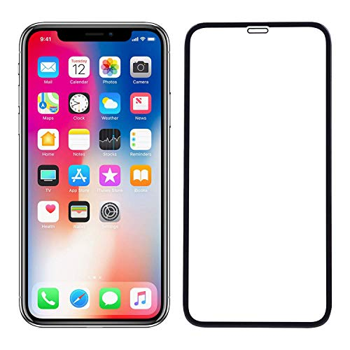 ECMERED Tempered Glass Screen Protector for iPhone X/XS/11 Pro (Black) (Pack of 1)
