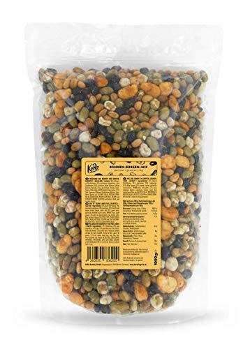 KoRo - Mix de habas y guisantes tostados y salados 1 kg - Snack de legumbres tostadas y saladas en paquete conveniente