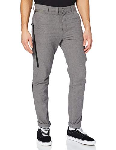 G-STAR RAW Mens Citishield 3D Cargo Slim Tapered Pants, zinc/dk Black Dobby C419-C014, 32W / 34L