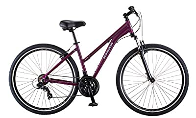 Schwinn GTX 1.0 Comfort Adult Hybrid Bike, Dual Sport Bicycle, 17.5-Inch Aluminum Frame, Purple