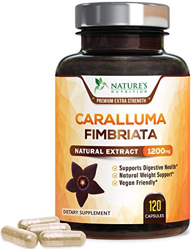 Caralluma Fimbriata Extract Extra Strength 1200mg - Natural Support for Metabolism & Endurance, Made in USA, Best Vegan Diet Supplement for Men & Women, Non-GMO - 120 Capsules