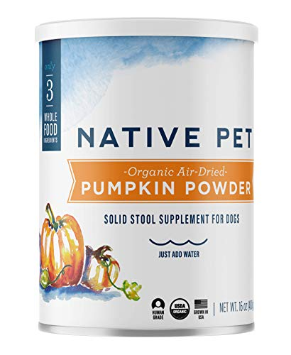Native Pet Organic Pumpkin for Dogs (8 oz, 16 oz) - All-Natural,...