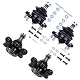 SCITOO 4pcs Suspension Kit 2 Front Lower 2 Upper Ball Joint fit for 1986-1989 for Toyota 4Runner Pickup 4WD K9587 K9482