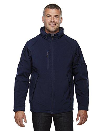 North End pour Homme isolée Soft Shell Veste imperméable avec Capuche détachable - Bleu - Large