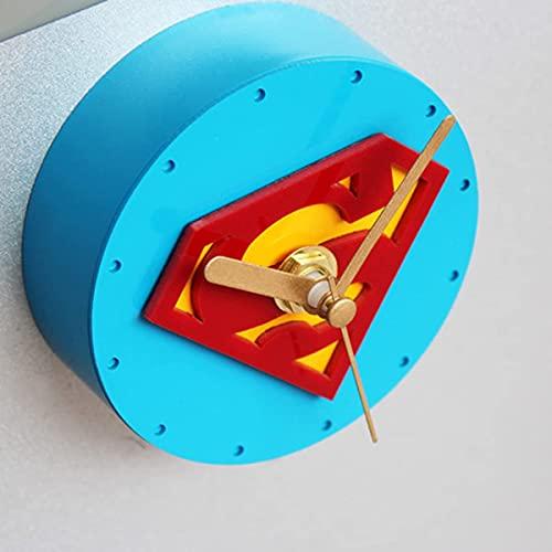 JZTOL 3D Real Tres Dimensiones Hero Superman Frigorífico Imán Creativo Nevera Reloj Mensaje Pegatina Reloj De Pared Adhesivo Magnético Tiempo