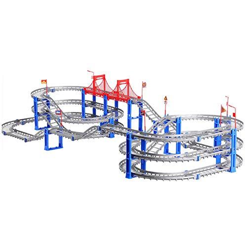 Kinderschienenspielzeug, austauschbare Schienenfahrzeuge, kostenlose Montage, elektrische Hochgeschwindigkeitsschiene, dreischichtige Schienenfahrzeuge, Puzzle-Kindergeburtstagsgeschenke ohne Batterie