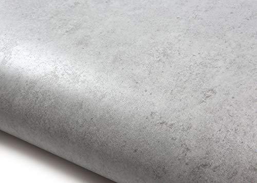 ROSEROSA Peel and Stick PVC Faux Concrete Decorative Instant Self-Adhesive Wallpaper Covering Countertop Backsplash Gray (LW449 : 2.00 Feet X 6.56 Feet)
