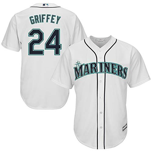 #24 Ken Griffey Jr. Seattle Mariners Cool Base Player Jersey - White XL