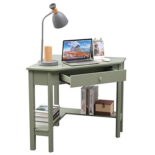 Lipo Corner Desk, 29.7' × 29.7' Home Office Computer Table, Space-Saving Laptop PC Table Writing...