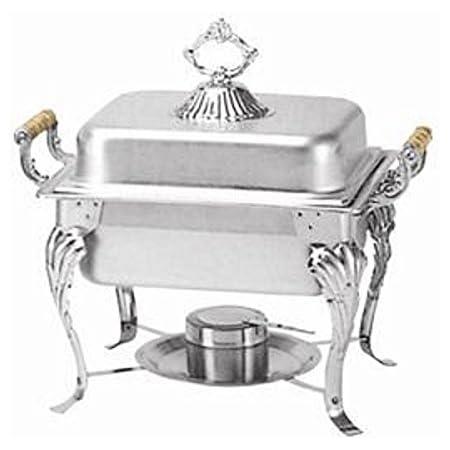 Amazon Com Winco 508 Half Crown Chafer 4 Quart Set Of 3 Kitchen Dining