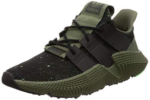 adidas Prophere, Chaussures de Gymnastique Homme, Noir (Core Black/Core Black/Shock Lime), 37 1/3 EU