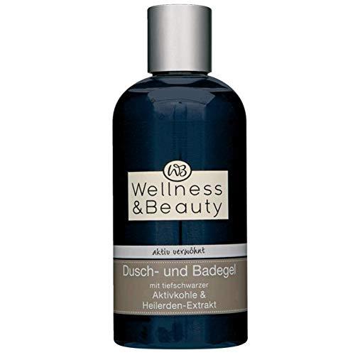 Wellness & Beauty Dusch- & Badegel aktiv verwöhnt mit Aktivkohle & Heilerden-Extrakt Inhalt: 250ml