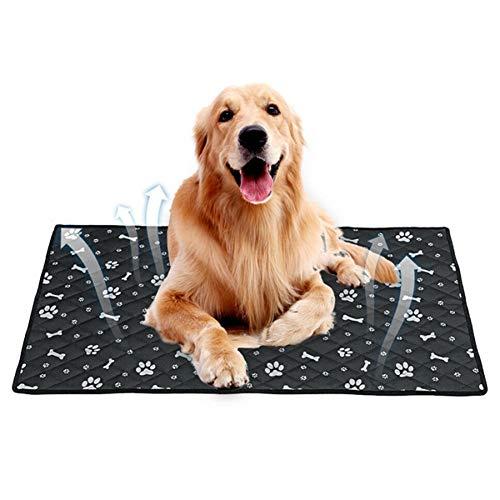 MEISISLEY Colchonetas para Perros Almohadilla para Perros Alfombrilla Transpirable para Mascotas Alfombrilla para Cama con Enfriamiento Automático para Mascotas Black,35