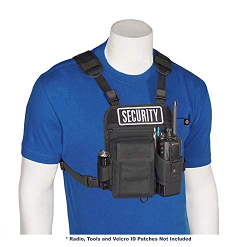 HOLSTERGUY RCH-601P Universal Radio Chest Harness Shoulder Radio Holster Chest Pack with Adjustable Radio Holster Pouch Holds a Radio up to 8 inches Tall RCH-601 Made in USA