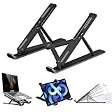Laptop Stand, Adjustable Notebook Computer Stands Holder, 10 Level Adjustment Foldable Portable Tablet PC Desk Riser Mount Tray, Suit for Any Brands of Laptops and Tablets