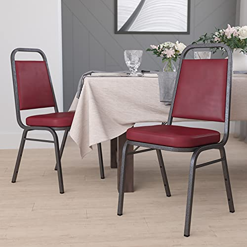 Flash Furniture 4 Pack HERCULES Series Trapezoidal Back Stacking Banquet Chair with 2.5' Thick Seat...
