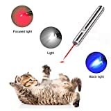 Angel's Pride Pointeur LED pour Chat Jouet Jouet Interactif 3 en 1