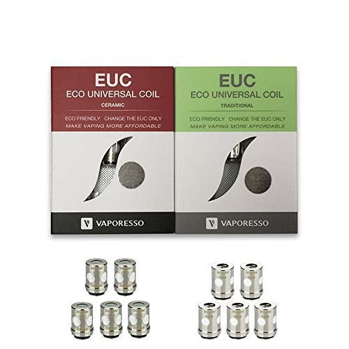 Vaporesso EUC ECO Traditional Ceramic Meshed 0.3 bis 0.6Ω Verdampferkopf Coil Head (Eco Traditional 0.5Ω Clapton 35-40W)