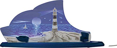 Motivleuchte Maritim Länge ca 47cm NEU Schwibbogen Lichterbogen LED Erzgebirge Seiffen Glas Plexiglas Ozean Meer Tiefsee Fische Clownfisch Hai Aquarium Muscheln Koralle Ostsee Nordsee Leuchtturm