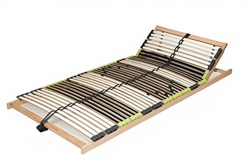 DaMi Lattenrost Relax Zerlegt 140 x 200 cm - 7 Zonen Lattenrahmen Aus Buche Mit 6-Fach Härteverstellung - Kopfteil verstellbar