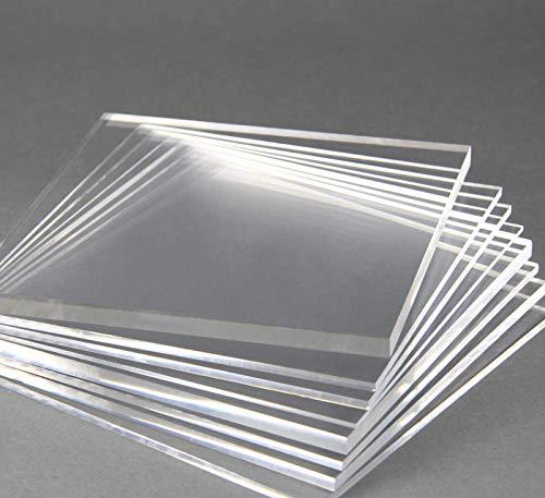 nattmann Acrylglas Zuschnitt PLEXIGLAS® Zuschnitt 2-8 mm Platte/Scheibe klar/transparent (6 mm, 300 x 300 mm)